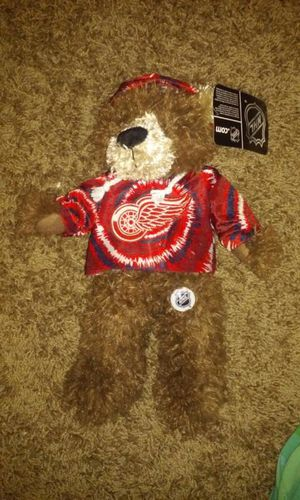Detroit red wings plush bear for Sale in Orlando, FL