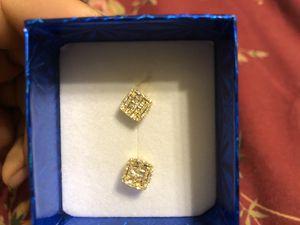 14k yellow gold Vs baguette diamond earring for Sale in Burlington, NJ