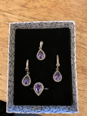 Amethyst earrings, ring, and pendent for Sale in Los Angeles, CA