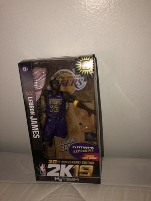 LeBron James NBA 2K19 action figure figurine for Sale in Doral, FL