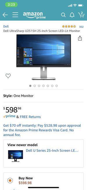 Dell 1440p WQHD Monitor 25in for Sale in Sacramento, CA