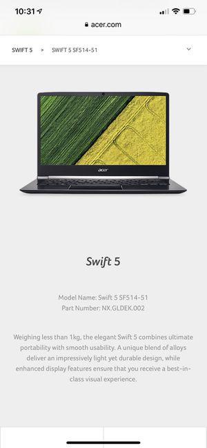 Swift 5 lab top for Sale in Burlington, NJ
