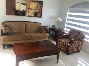 Sofa with occasional chair, tea table, corner table for Sale in Miami, FL