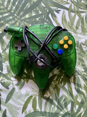 Authentic Nintendo 64 Controller - Jungle Green for Sale in Warwick, RI