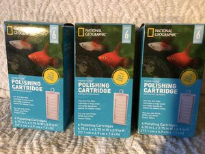 National Geographic power filter polishing cartridge. Brand new in boxes! Each box contains 6 Cartridges. Retails $21 a box, asking $10 each or all 3 for Sale in Marlborough, MA