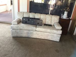 Free couch and love seat in white the western couch lets out to a bed for Sale in Surprise, AZ