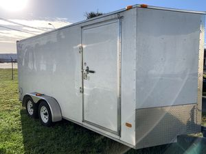 2019 Enclosed Utility Trailer 7'x16' Used for Sale in Tampa, FL