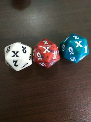 10th edition d20 dice mtg card Magic the gathering cards for Sale for sale  Las Vegas, NV