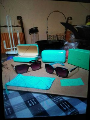 Tiffany &co. Sunglasses.. teal or black..in box with case for Sale in Concord, CA