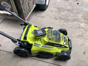 Ryobi 40v Lawn Mower brushless 20in for Sale in Dallas, TX