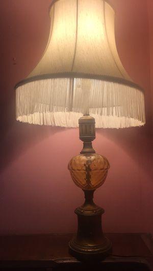 Vintage fringe glass brass lamp for Sale in Rockville, MD