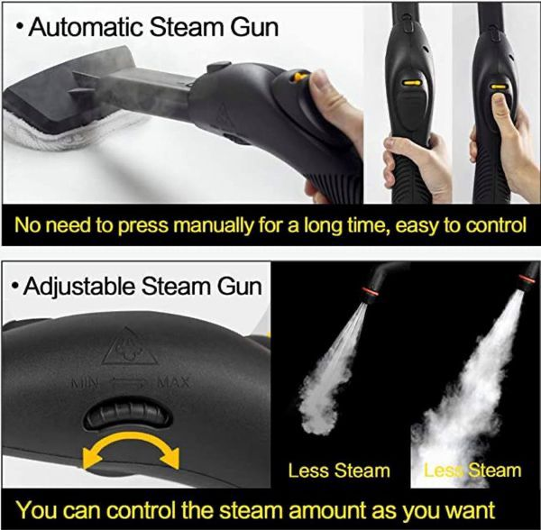 BOCCA Multi-Purpose Steam Cleaner Heavy Duty Rolling Cleaning Machine Carpets Floor Sanitize