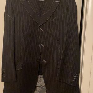 The AcGreen Line By Paitano Black With Pen Stripes 3 Piece Men's Suit for Sale in Sunrise Manor, NV