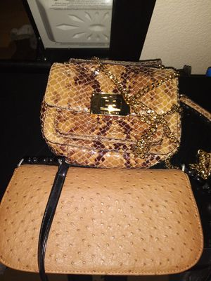 Michael Kors Tina snakeskin crossbody clutch Pocketbook for Sale in Pikesville, MD
