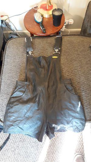 Vintage harley Davidson leather shortalls for Sale in Christiansburg, VA