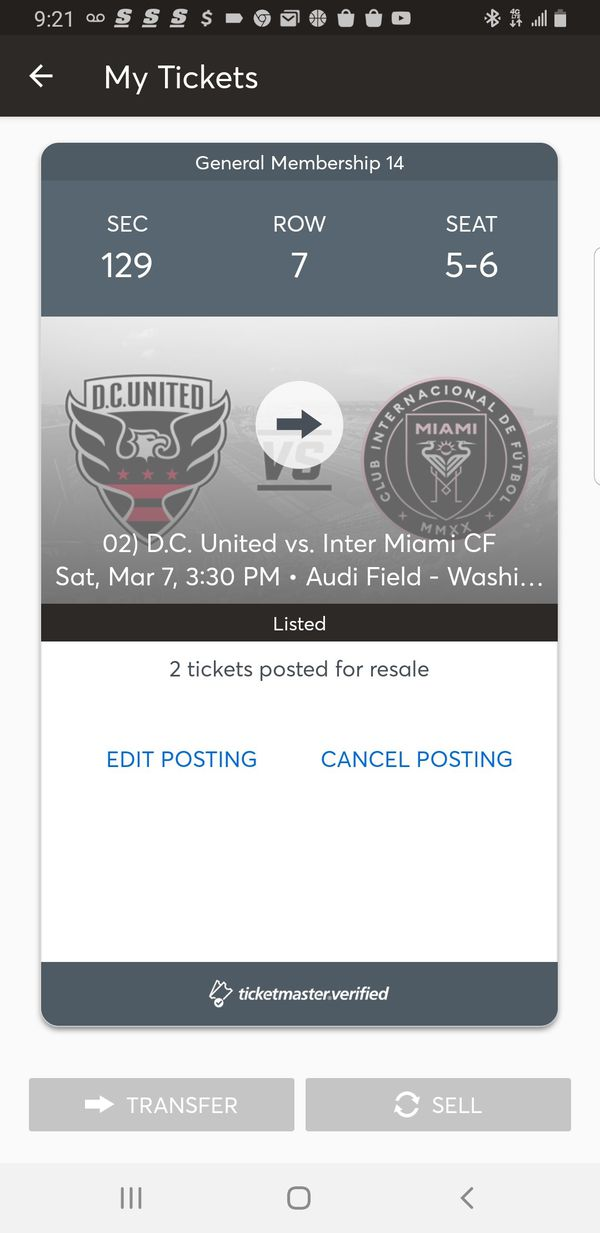 DC United soccer tickets