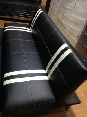 Brand new black futon Bed with stripes for Sale in Vernon, CA