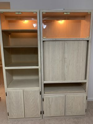 2 piece Wood Wall Unit in Great Condition for Sale in Fairfax, VA