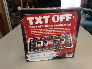 Txt off Board Game for Sale in Bridgeville, PA