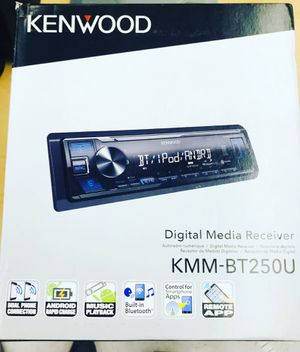 KENWOOD KMM-BT250U Single-DIN In-Dash Digital Media Receiver with Bluetooth & SiriusXM Ready for Sale in Nashville, TN