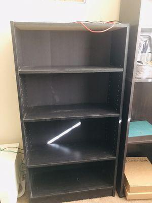 Two black wood shelf for Sale in Tucson, AZ