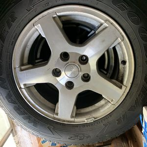 245 65 R17....... 5 Jeep Wrangler Wheels and tires for Sale in Denver, CO