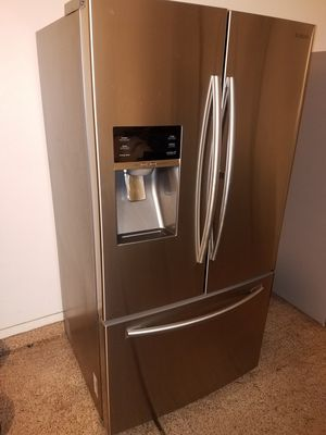 Stainless steel kitchen appliances French door refrigerator electric stove over the range microwave energy star dishwasher for Sale in Phoenix, AZ