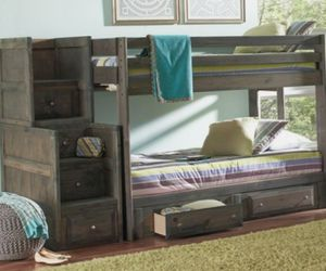 BUNK BED Gunsmoke Gray NEW FREE Mattress FULL-FULL for Sale in Atlanta, GA