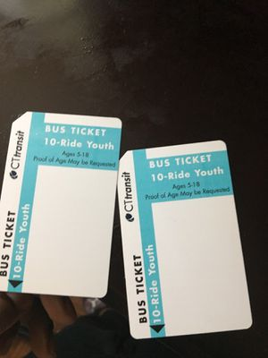 10 ride bus pass for Sale in East Hartford, CT