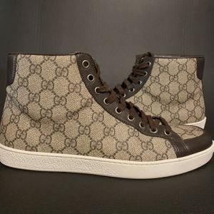 Gucci GG Supreme High Too Beige Sneakers Size 8 NEW for Sale in Buford, GA