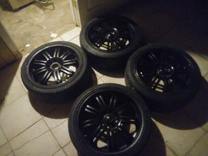 4 universal rims black for Sale in Providence, RI