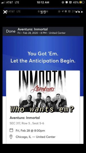 Aventura Concert for Sale in Chicago, IL