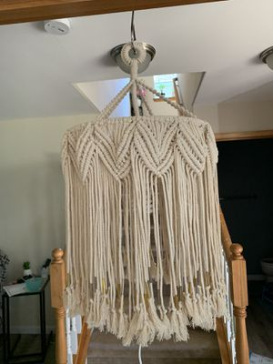 Boho Big Macrame Chandelier Lampshade for Sale in Maple Valley, WA