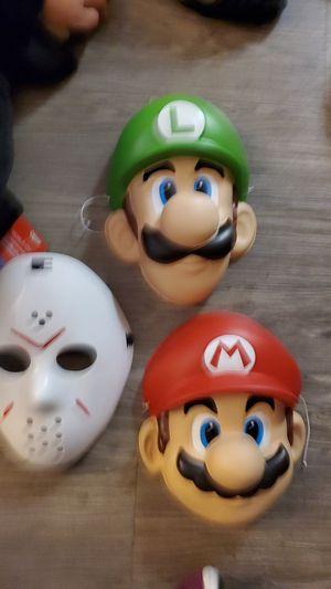 Halloween masks Luigi, Mario, Jason for Sale in Tustin, CA