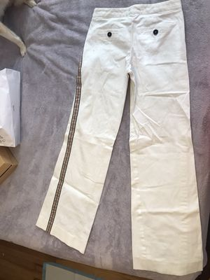 Burberry London white pants with stripes on the side size ds for Sale in Chelsea, MA