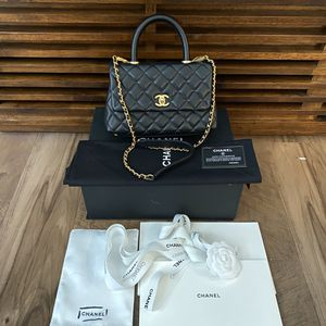 Chanel small flap bag with top handle for Sale in Pacifica, CA