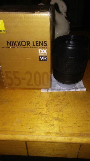 Nikkor Camera Lens 55-200mm for Sale in East Cleveland, OH