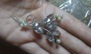 Vintage clear glass brooch pin for Sale in Tullahoma, TN