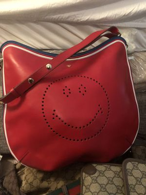 Gucci duffle luggage,Louis Vuiton luggage duffle, two Gucci pocket book, red smiley face bag. for Sale in Cumming, GA