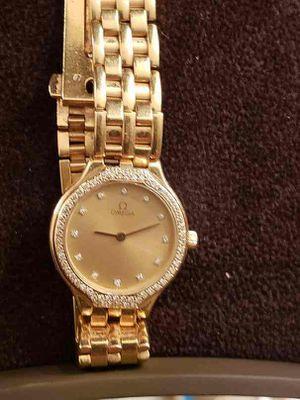 Omega DeVille Diamond and 18K Yellow Gold Ladies Womens 24mm Quartz Watch for Sale in Alexandria, VA
