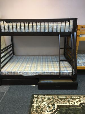 New bunk bed with twin and full mattress included $489 for Sale in Nashville, TN