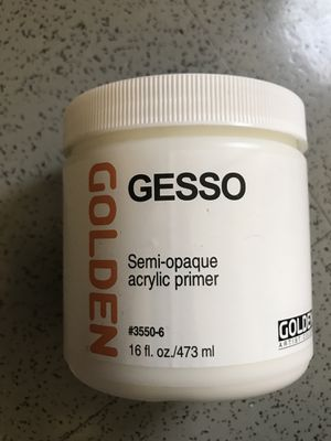 Gesso golden acrylic primer for painting art for Sale in Brooklyn, NY