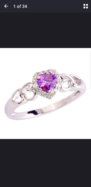 Purple stone fashion ring for Sale in Orlando, FL