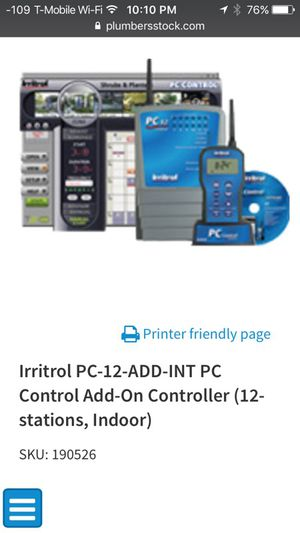 irritrol professional PC Control sprinkler/irrigation controller for Sale in Mercer Island, WA