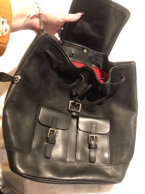 Black leather nice Dooney and Bourke name brand backpack for Sale in Orange, CA