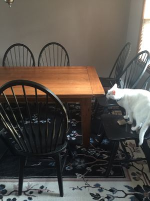 Solid wood dining room table and 8 chairs. Asking $350 or best offer. Willing to negotiate! for Sale in Hazlet, NJ