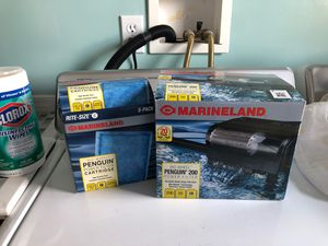 Marine land Aquarium Filter and Refill Bundle for Sale in Lexington, KY