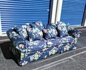 Flower sofa couch modern vintage for Sale in Houston, TX