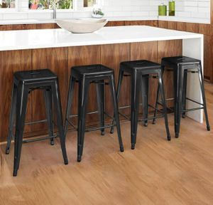 Set of 4 metal barstools height counter stools - NEW for Sale in Taylor, MI