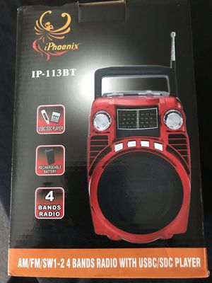 Bluetooth radio fm am with usb and Sd memory card for Sale in Vernon, CA